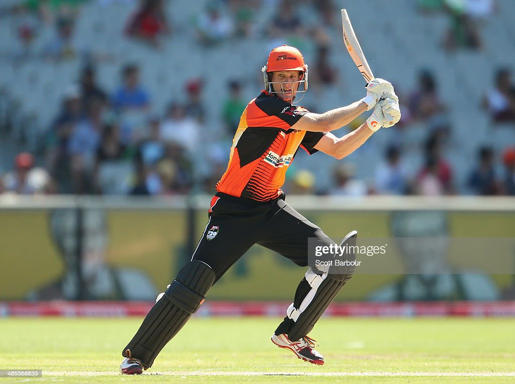 Adam Voges of the Scorchers bats during the Big Bash League match between the Melbourne Stars and the Perth Scorchers at Melbourne Cricket Ground on January 27, 2014 in Melbourne, Australia.