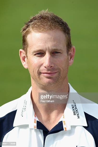 Adam Voges poses during a photcall at Lord's Cricket Ground on April 10 2015 in London England