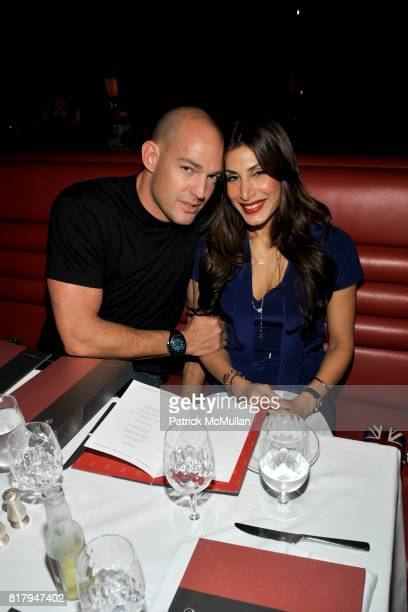 Adam Von Furstenberg and Priya Chatwal attend Ali Kay Keep Me Collection Dinner hosted by Vikram Chatwal and Jeffrey Jah at The Lambs Club on...
