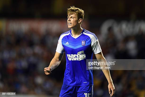 Adam Webster of Ipswich Town during the Sky Bet Championship match between Wolverhampton Wanderers v Ipswich Town at Molineux on August 16 2016 in...