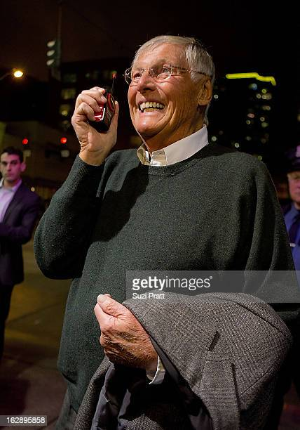 Adam West attends Adam West And Burt Ward QA Session And 'Batman' Screening at Cinerama Theater on February 28 2013 in Seattle Washington