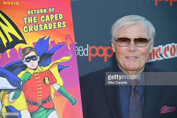 Adam West attends the Batman Return of the Caped Crusaders Press Room at New York ComicCon Day 1 at Jacob Javits Center on October 6 2016 in New York...