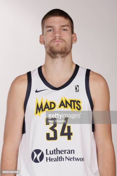Adam Woodbury of the Fort Wayne Mad Ants poses for a head shot during the NBA GLeague media day on October 30 2017 at The Ash Center in Fort Wayne...