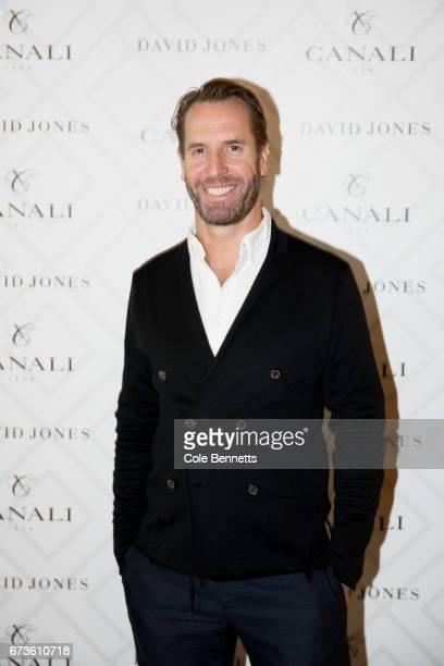 Adam Worling arrives at the David Jones Canali Launch at Restaurant Hubert on April 27 2017 in Sydney Australia