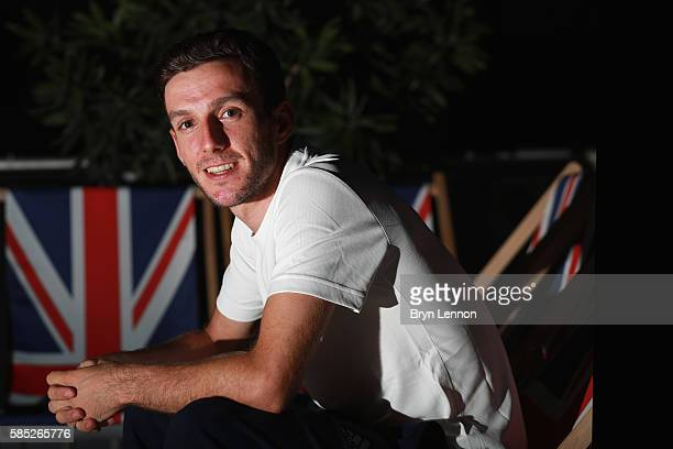 Adam Yates of Great Britain and Team GB poses for a photo during a British Cycling press conference on August 2 2016 in Rio de Janeiro Brazil