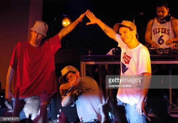 Adam Yauch Mike Diamond and Adam Horovitz of Beastie Boys with Mix Master Mike