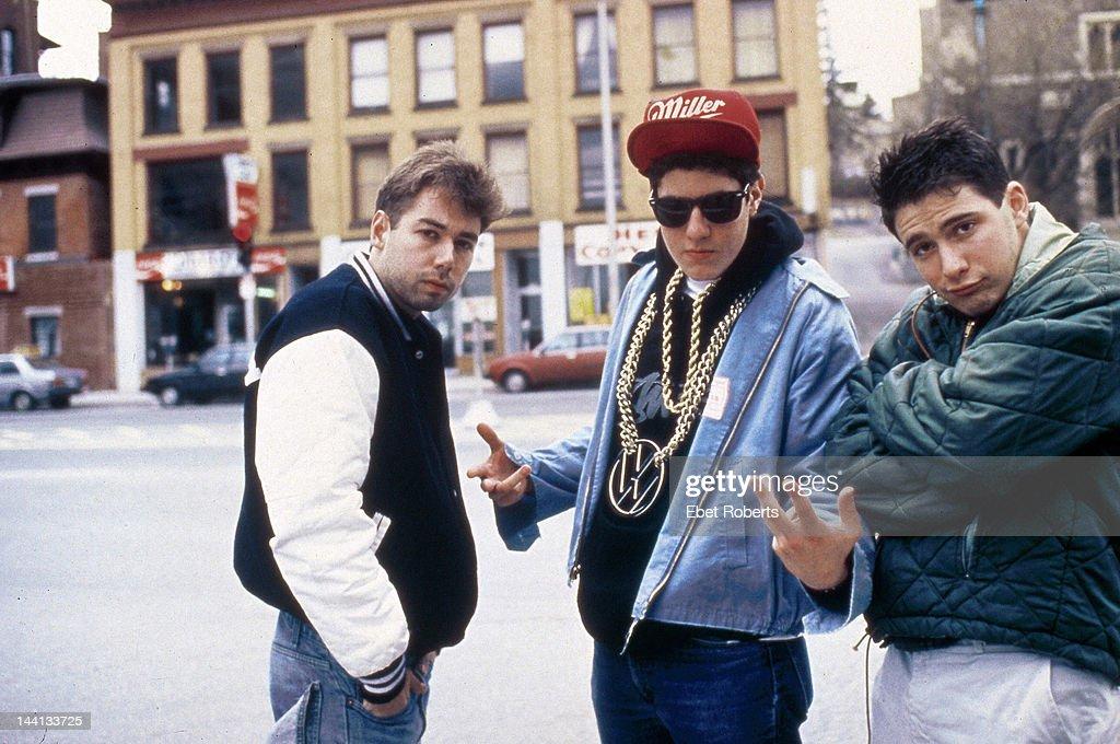 Adam Yauch Mike Diamond and Adam Horvitz of the The Beastie Boys group portrait Worcester Massachusetts April 9 1987