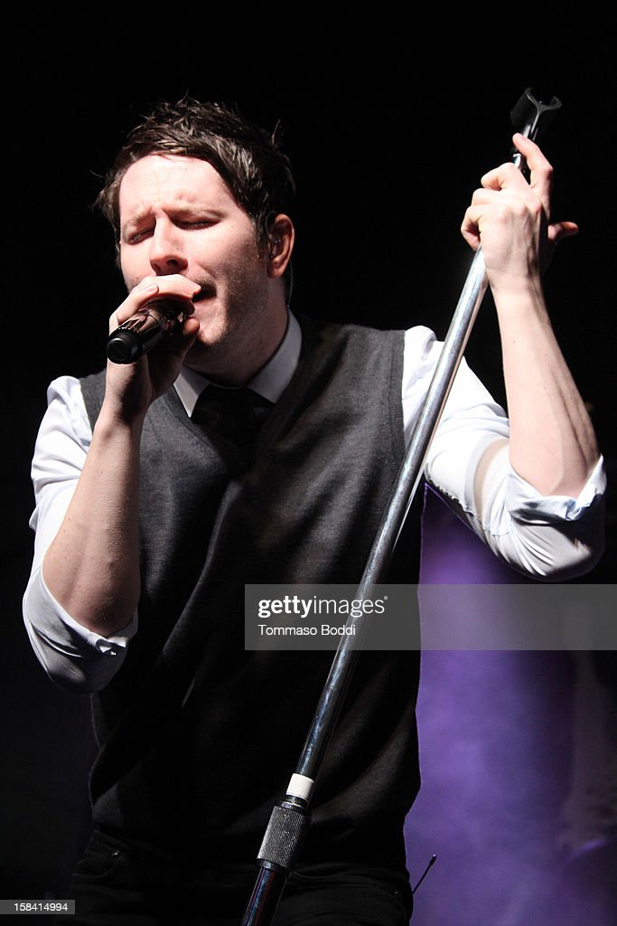 Adam Young of Owl City performs at the Salvation Army's 3rd annual Rock the Red Kettle concert held at the Nokia Theatre L.A. Live on December 15, 2012 in Los Angeles, California.