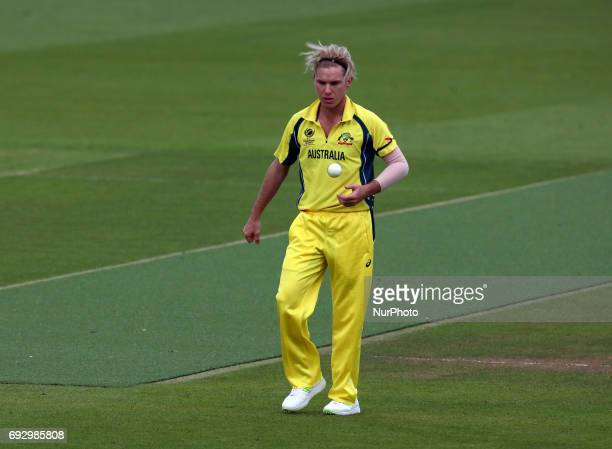 Adam Zampa of Australia during the ICC Champions Trophy match Group A between Australia and Bangladesh at The Oval in London on June 05 2017