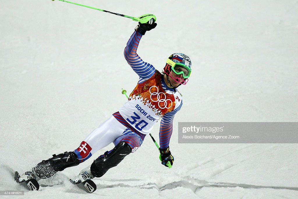 Adam Zampa of Slovakia competes during the Alpine Skiing Men's Slalom at the Sochi 2014 Winter Olympic Games at Rosa Khutor Alpine Centre on February 22, 2014 in Sochi, Russia.
