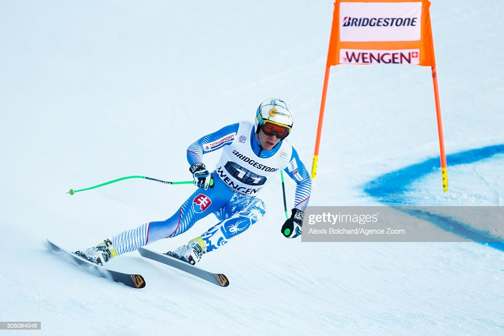 Adam Zampa of Slovakia competes during the Audi FIS Alpine Ski World Cup Men's Super Combined on January 15, 2016 in Wengen, Switzerland.