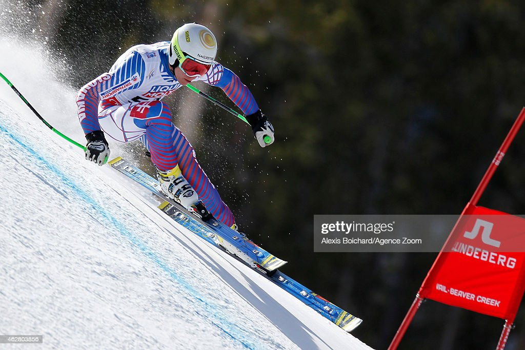 Adam Zampa of Slovakia competes during the FIS Alpine World Ski Championships Men's Super-G on February 5, 2015 in Beaver Creek, Colorado.