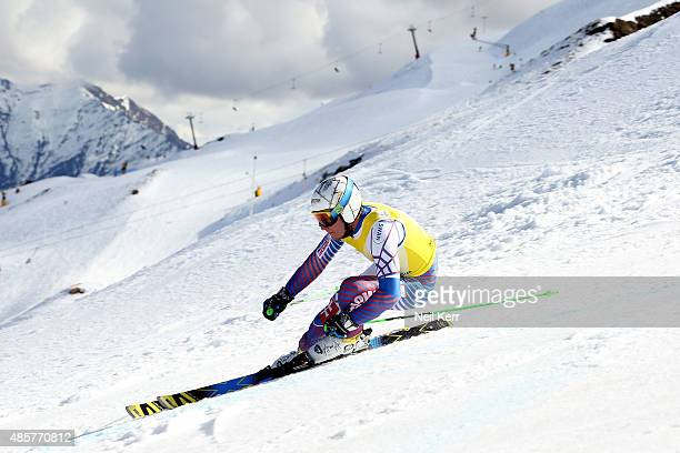 Adam Zampa of Slovakia competes in the Alpine Giant Slalom FIS Australia New Zealand Cup during the Winter Games NZ at Coronet Peak on August 30 2015...