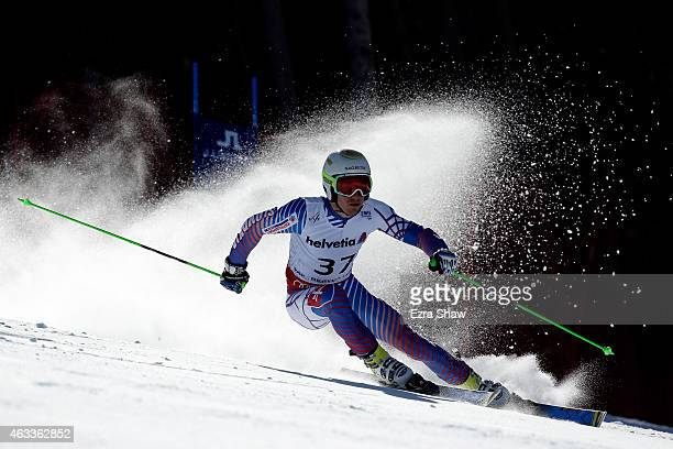 Adam Zampa of Slovakia races during the Men's Giant Slalom on Day 12 of the 2015 FIS Alpine World Ski Championships on February 13 2015 in Beaver...