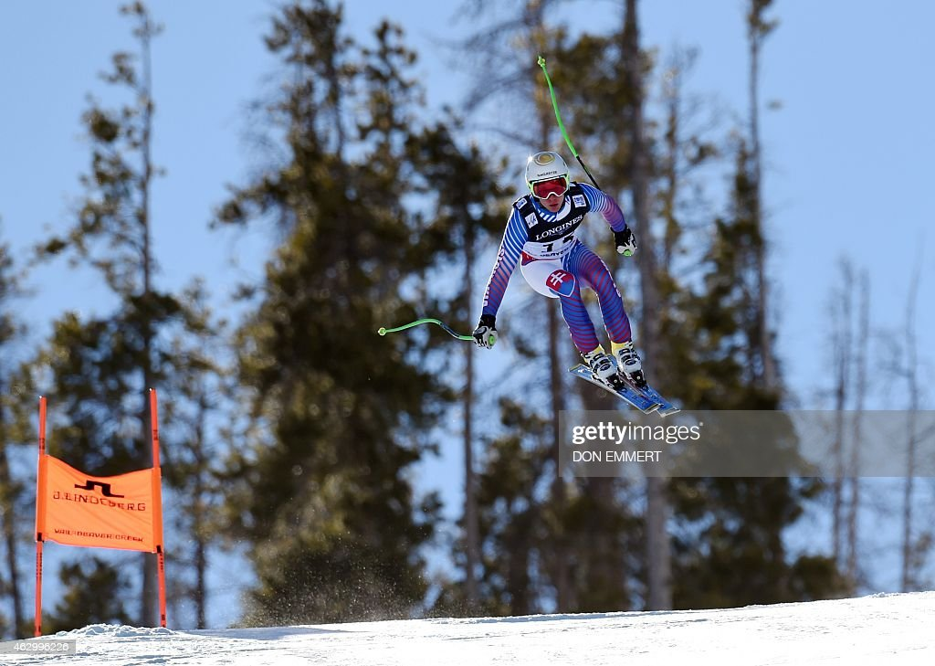 Adam Zampa of Slovakia skis during the 2015 World Alpine Ski Championships men's combined-downhill February 8, 2015 in Beaver Creek, Colorado.