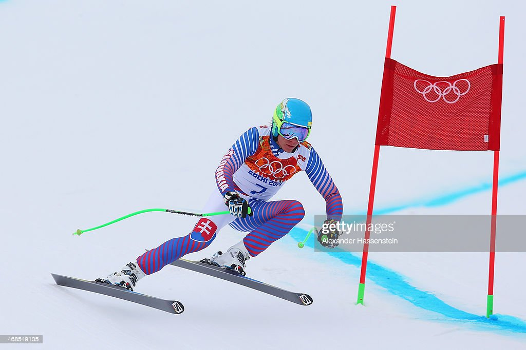 Adam Zampa of Slovakia skis during training for the Men's Alpine Skiing on day 4 of the Sochi 2014 Winter Olympics at Rosa Khutor Alpine Center on February 11, 2014 in Sochi, Russia.