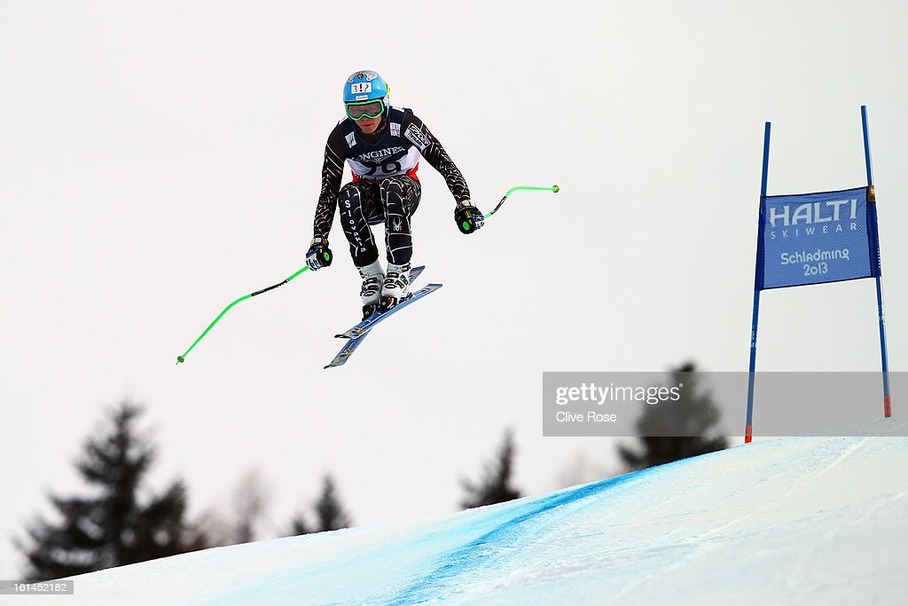 Adam Zampa of Slovakia skis in the Men's Super Combined during the Alpine FIS Ski World Championships on February 11, 2013 in Schladming, Austria.