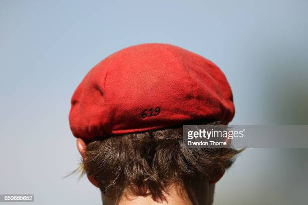 Adam Zampa of the Redbacks fields during the Sheffield Shield final between Victoria and South Australia on March 29 2017 in Alice Springs Australia