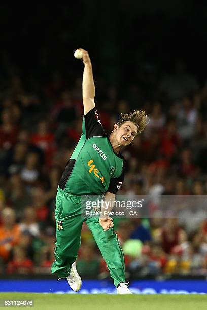 Adam Zampa of the Stars bowls during the Big Bash League match between the Melbourne Renegades and the Melbourne Stars at Etihad Stadium on January 7...