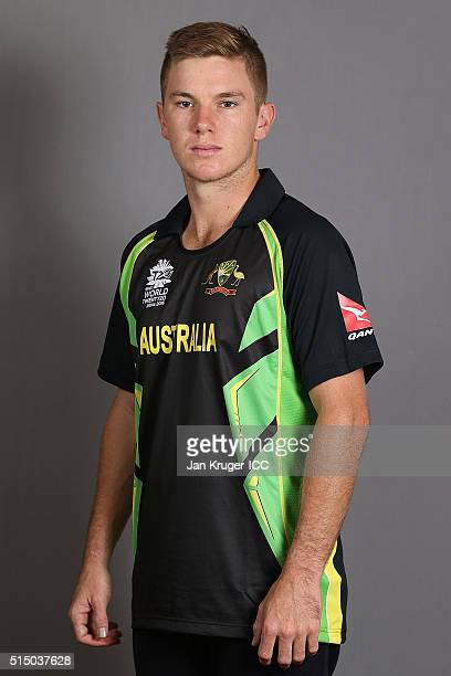 Adam Zampa poses during the Australia headshots session ahead of the ICC World Twenty20 tournament on March 12 2016 in Kolkata India
