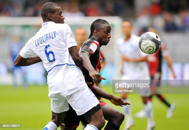 Adama COULIBALY / Mamadou BAGAYOKO Auxerre / Nice Ligue 1 5eme journee Photo Dave Winter / Icon Sport