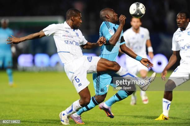 Adama COULIBALY / Mamadou NIANG Auxerre / Marseille 35eme journee de Ligue 1 Stade de l'Abbe Deschamps Auxerre
