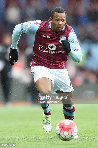 Adama of Aston Villa in action during the Barclays Premier League match between Aston Villa and AFC Bournemouth at Villa Park on April 9 2016 in...