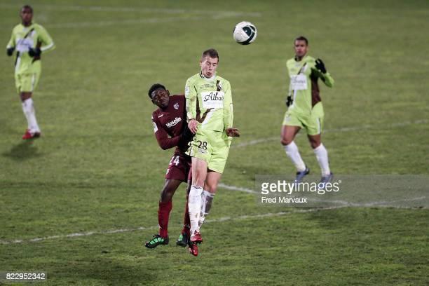 Adama TAMBOURA / Florian LEJEUNE Metz / Istres 19e journee de Ligue 2