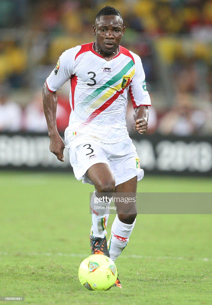 Adama Tamboura of Mali during the 2013 African Cup of Nations Quarter-Final match between South Africa and Mali at Moses Mahbida Stadium on February 2, 2013 in Durban, South Africa.