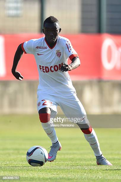 Adama Traore of AS Monaco in action during the preseason friendly match between Queens Park Rangers and AS Monaco on July 14 2015 in Chatillon Italy