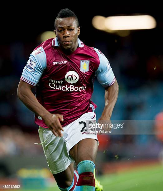 Adama Traore of Aston Villa during the Capital One Cup Second Round match between Aston Villa and Notts County at Villa Park on August 25 2015 in...