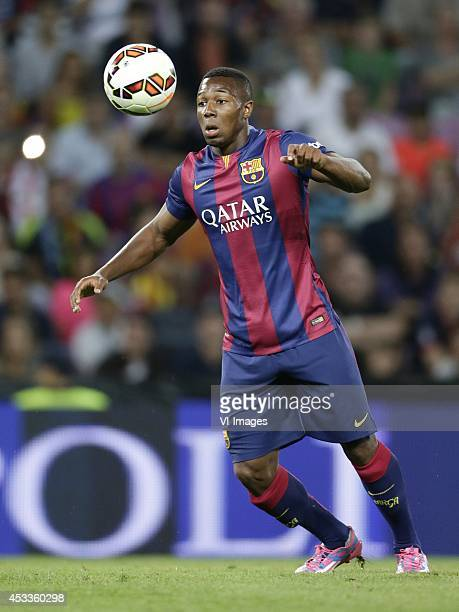 Adama Traore of FC Barcelona during the friendly match between Napoli and FC Barcelona at Stade de Geneve on august 6 2014 in Geneva Switzerland