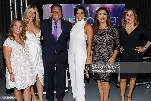 Adamari Lopez Alessandra Villegas Daniel Sarcos Rashel Diaz Neida Sandoval and Ana Maria Canseco arrive at the special screening of 'Que Noche With...