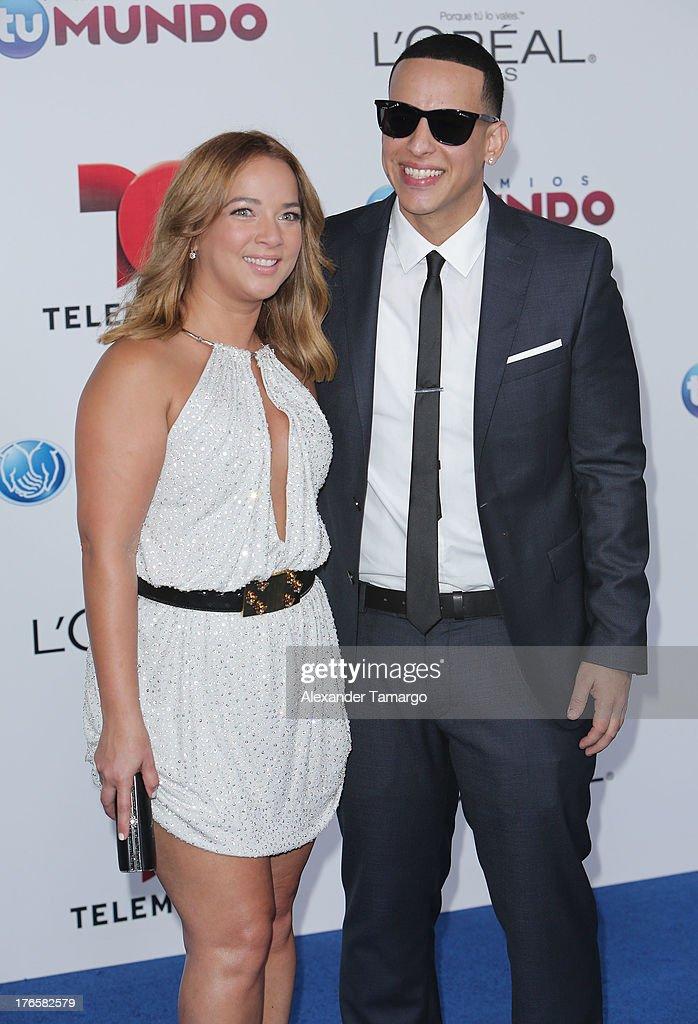 Adamari Lopez and Daddy Yankee attend Telemundo's Premios Tu Mundo Awards at American Airlines Arena on August 15, 2013 in Miami, Florida.