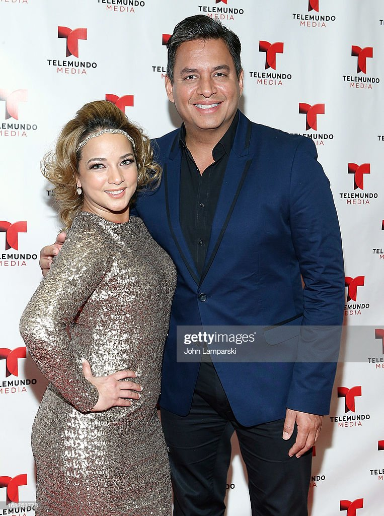 <a gi-track='captionPersonalityLinkClicked' href=/galleries/search?phrase=Adamari+Lopez&family=editorial&specificpeople=2550892 ng-click='$event.stopPropagation()'>Adamari Lopez</a> and Daniel Sarcos attend the 2013 Telemundo Upfront at Frederick P. Rose Hall, Jazz at Lincoln Center on May 14, 2013 in New York City.