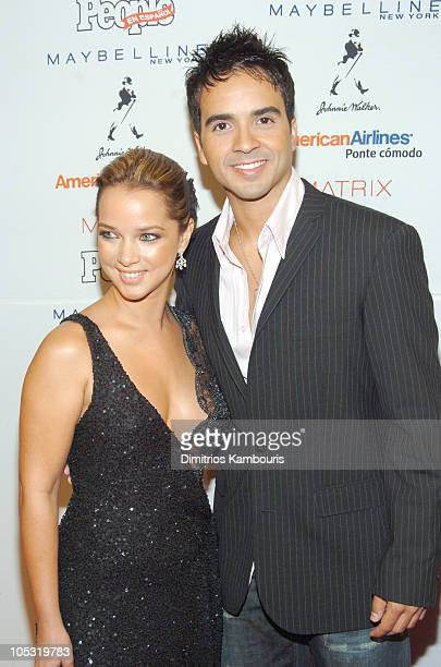 Adamari Lopez and Luis Fonsi during 3rd Annual People En Espanol's '50 Most Beautiful' Gala at Splashlight Studios in New York City New York United...