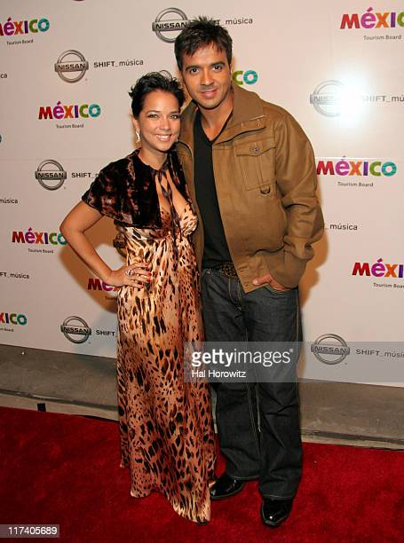 Adamari Lopez and Luis Fonsi during Voces del mas Alla November 2 2006 at AER Lounge in New York City New York United States