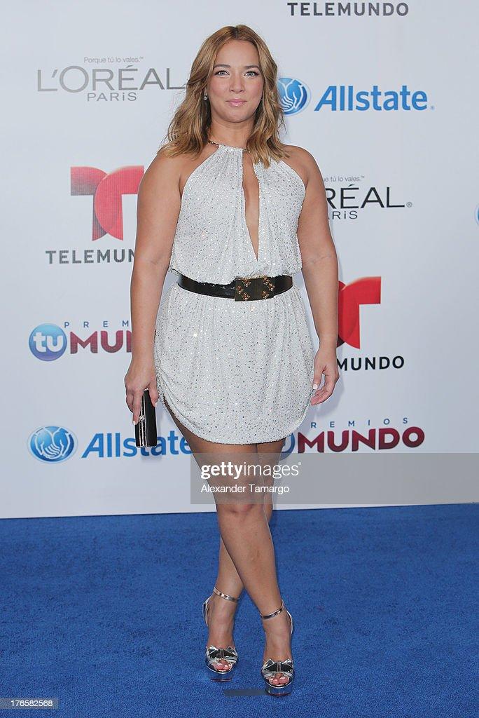 Adamari Lopez attends Telemundo's Premios Tu Mundo Awards at American Airlines Arena on August 15, 2013 in Miami, Florida.
