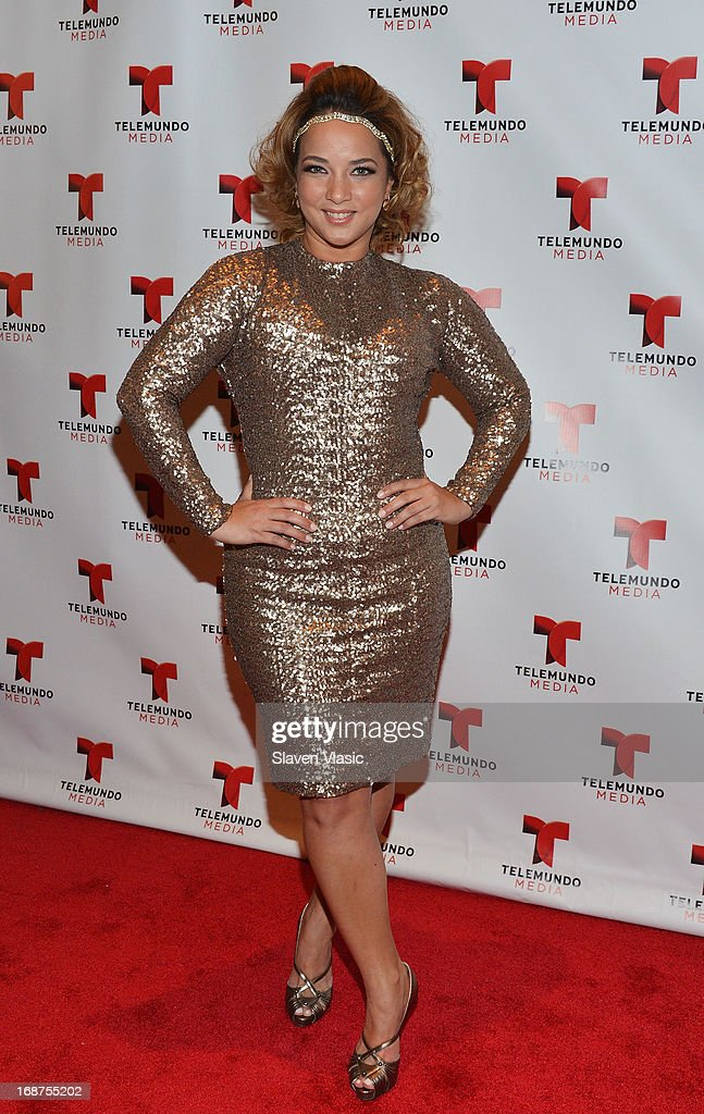 Adamari Lopez attends the 2013 Telemundo Upfront at Frederick P. Rose Hall, Jazz at Lincoln Center on May 14, 2013 in New York City.