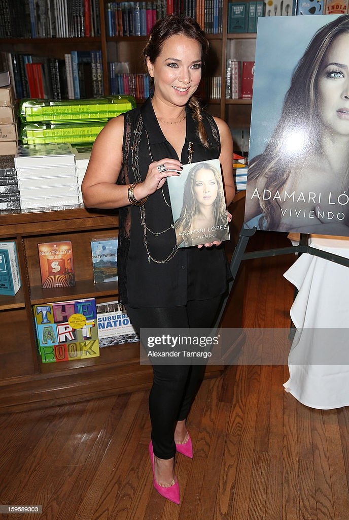 <a gi-track='captionPersonalityLinkClicked' href=/galleries/search?phrase=Adamari+Lopez&family=editorial&specificpeople=2550892 ng-click='$event.stopPropagation()'>Adamari Lopez</a> makes an appearance at Books and Books on January 16, 2013 in Coral Gables, Florida.