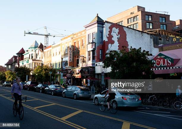 Adams Morgan is a Green Light District neighborhood where businesses revolve around marijuana photographed in Washington DC on September 07 2017
