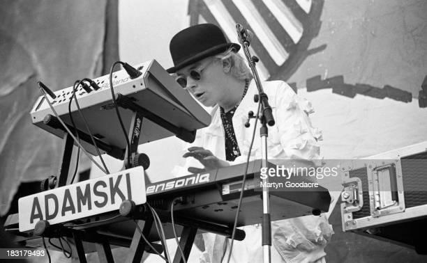 Adamski performs on stage at Milton Keynes Bowl supporting Erasure United Kingdom 1990