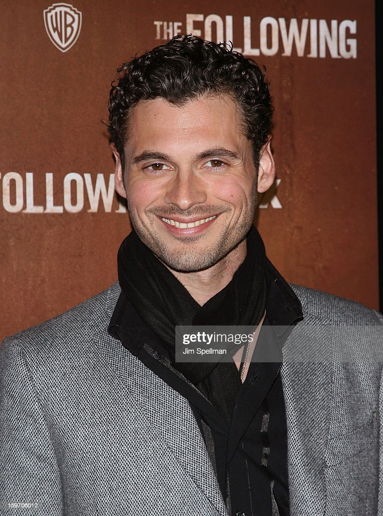 Adan Canto attends 'The Following' New York Premiere at New York Public Library - Astor Hall on January 18, 2013 in New York City.
