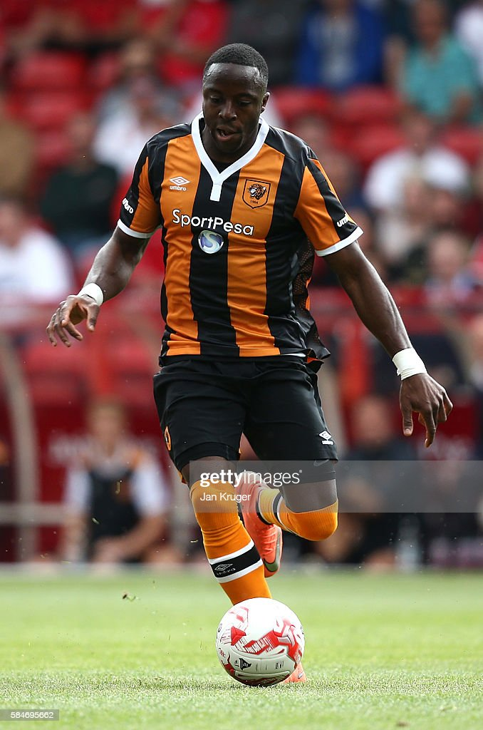 Adana Diomande of Hull City during the pre-season friendly match between Nottingham Forest and Hull City at City Ground on July 30, 2016 in Nottingham, England.