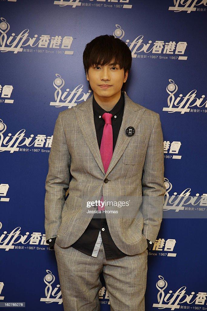 Adason Lo at the 2013 IFPI Hong Kong Top Sales Music Awards at Star Hall on February 26, 2013 in Hong Kong, Hong Kong.
