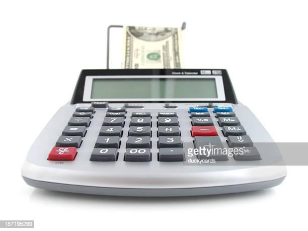 Adding Machine and Cash