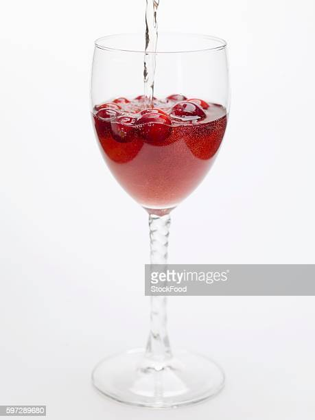 Adding water to cranberry drink