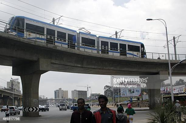 Addis Ababa light rail officially begins its service on September 20 2015 in Addis Ababa Ethiopia