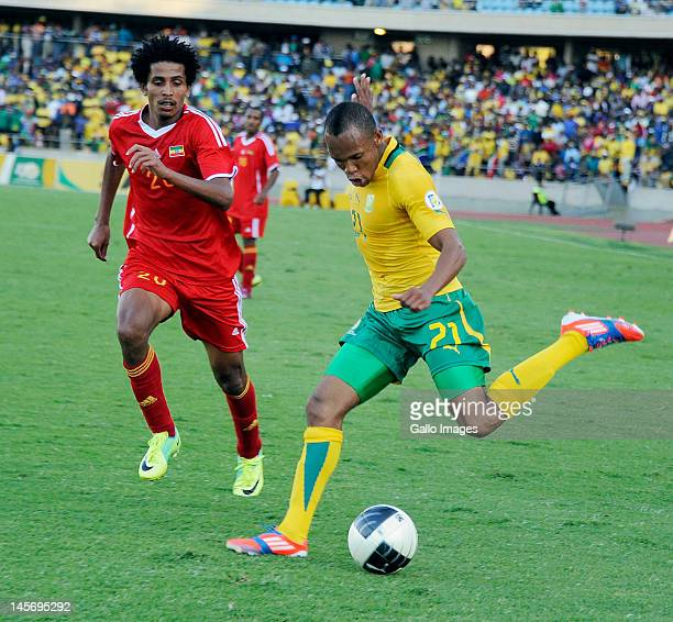Addis Tekle during the 2014 FIFA World Cup Qualifier match between South Africa and Ethiopia at Royal Bafokeng Stadium on June 03 2012 in Rustenburg...