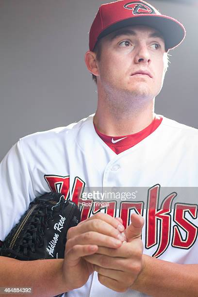 Addison Reed of the Arizona Diamondbacks poses during photo day at Salt River Fields at Talking Stick on March 1 2015 in Scottsdale Arizona